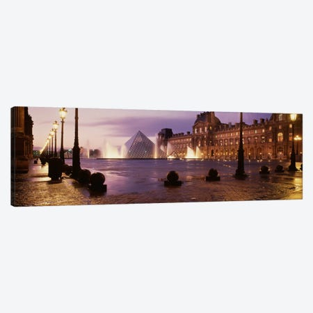 Louvre Museum Paris France Canvas Print #PIM1134} by Panoramic Images Canvas Wall Art