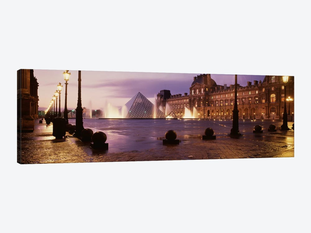 Louvre Museum Paris France by Panoramic Images 1-piece Canvas Wall Art