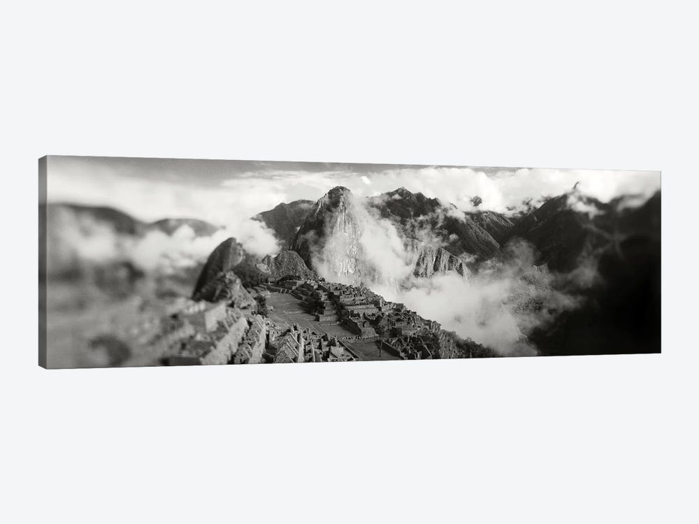 Ruins of buildings at an archaeological site, Inca Ruins, Machu Picchu, Cusco Region, Peru by Panoramic Images 1-piece Canvas Artwork