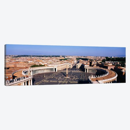 High angle view of a town, St. Peter's Square, Vatican City, Rome, Italy Canvas Print #PIM1139} by Panoramic Images Art Print