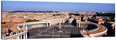 High angle view of a town, St. Peter's Square, Vatican City, Rome, Italy Canvas Art Print