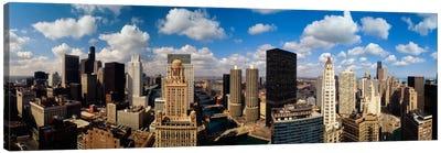 Skyline From Lake Michigan, Chicago, Illinois, USA #2 Canvas Print #PIM113