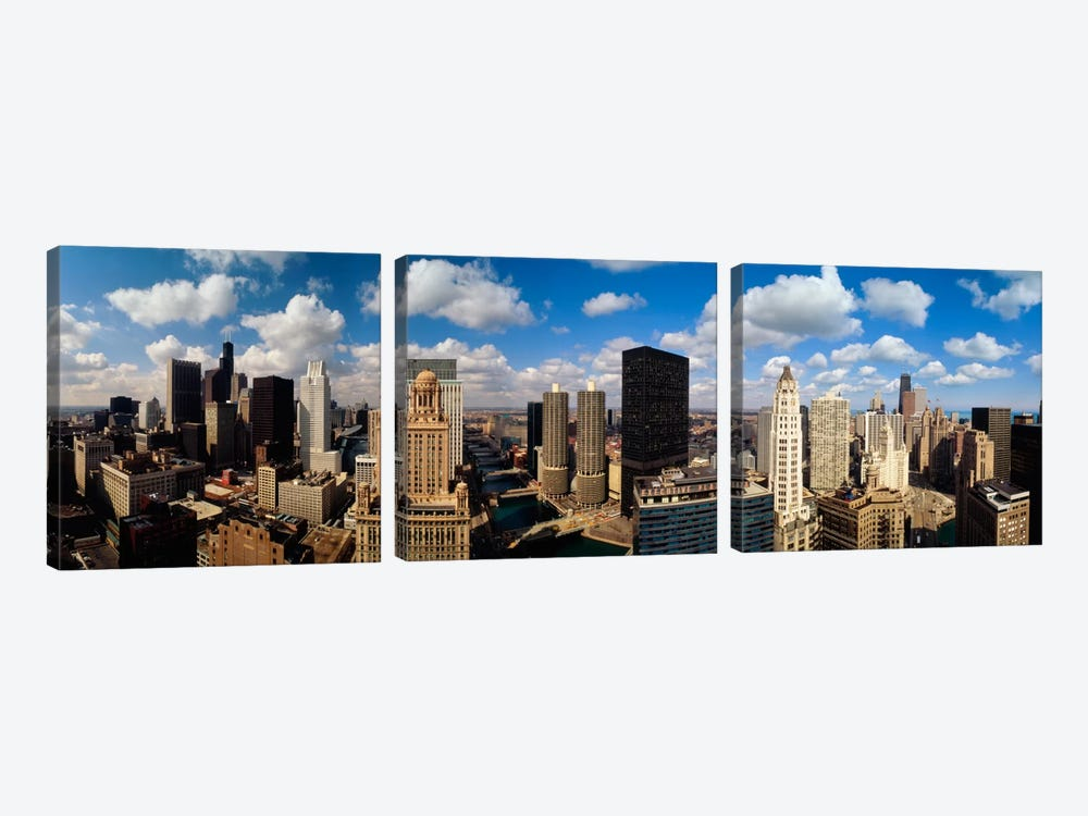 Skyline From Lake Michigan, Chicago, Illinois, USA #2 3-piece Canvas Art Print