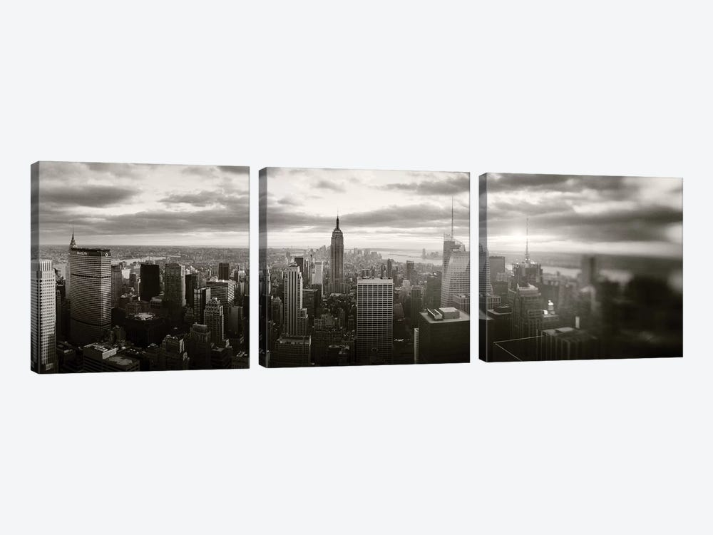 Manhattan Cityscape, Manhattan, New York City, New York State, USA by Panoramic Images 3-piece Canvas Wall Art