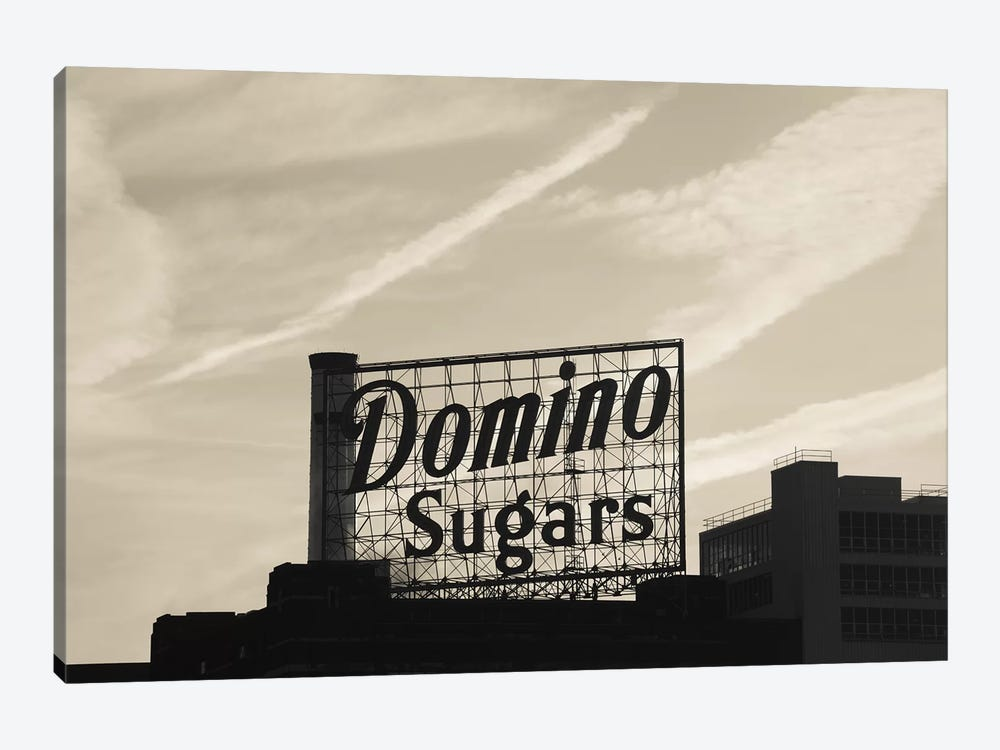 Low angle view of domino sugar sign, Inner Harbor, Baltimore, Maryland, USA by Panoramic Images 1-piece Canvas Wall Art