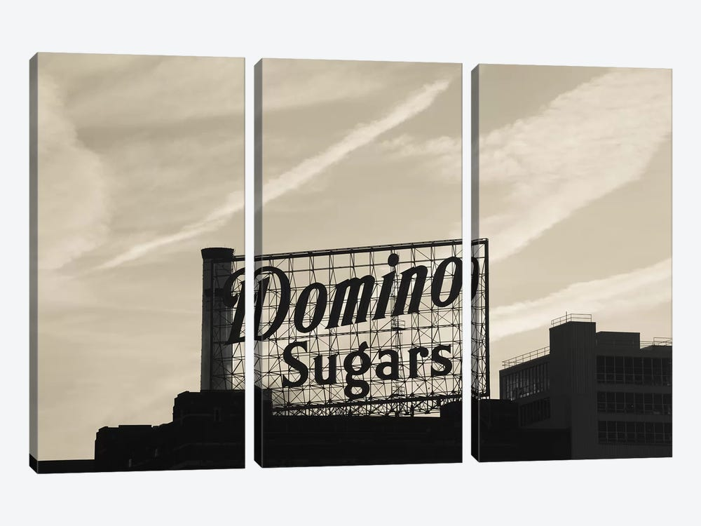Low angle view of domino sugar sign, Inner Harbor, Baltimore, Maryland, USA by Panoramic Images 3-piece Canvas Wall Art