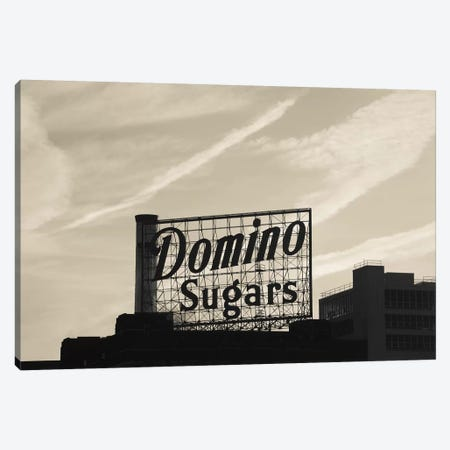 Low angle view of domino sugar sign, Inner Harbor, Baltimore, Maryland, USA 3-Piece Canvas #PIM11432} by Panoramic Images Canvas Artwork