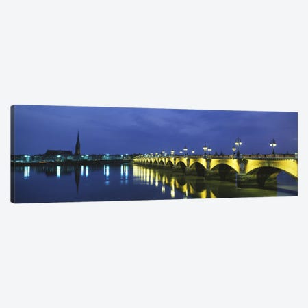 Pierre Bridge Bordeaux France Canvas Print #PIM1143} by Panoramic Images Canvas Wall Art