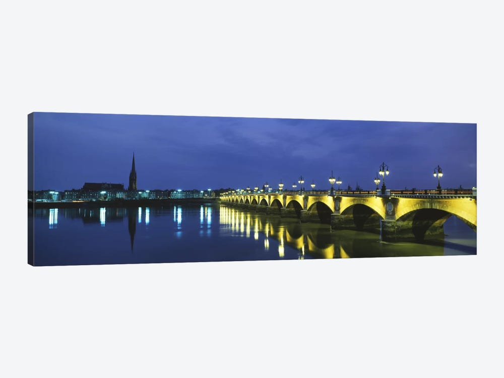Pierre Bridge Bordeaux France by Panoramic Images 1-piece Canvas Artwork