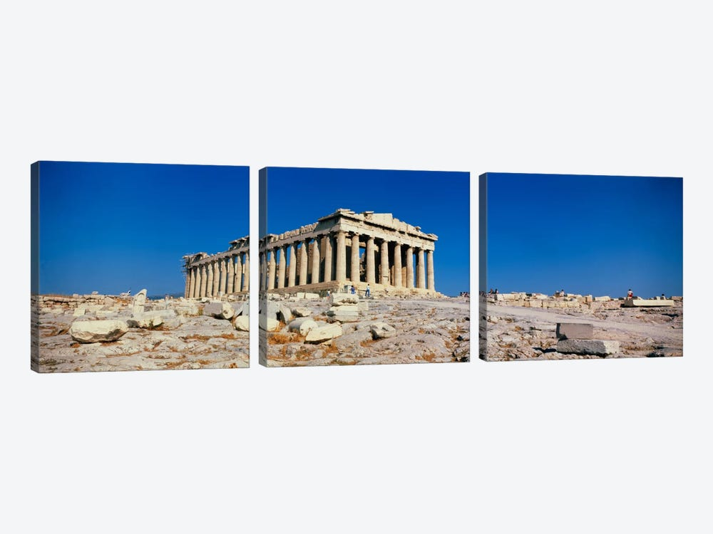 Parthenon Athens Greece by Panoramic Images 3-piece Canvas Print