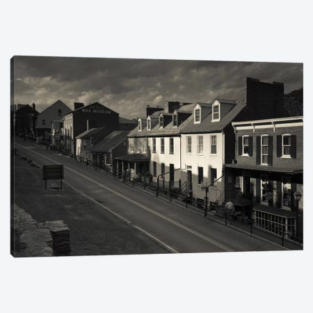 Buildings along a street, High street, Harpers Ferry National Historic Park, Harpers Ferry, West Virginia, USA Canvas Print #PIM11454} by Panoramic Images Art Print
