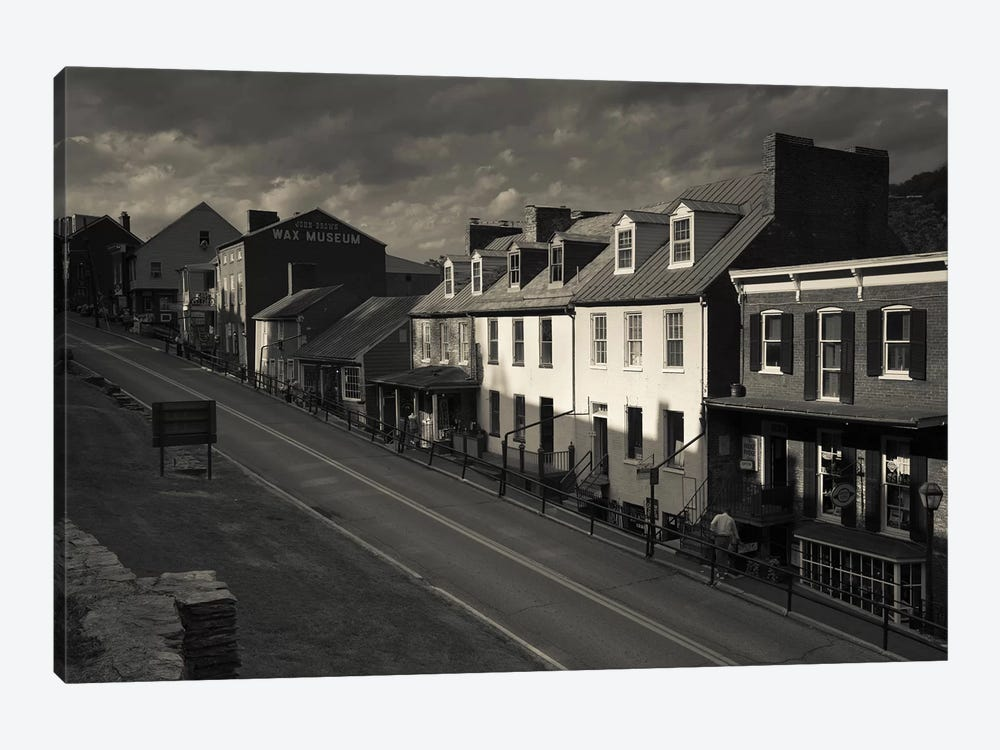 Buildings along a street, High street, Harpers Ferry National Historic Park, Harpers Ferry, West Virginia, USA by Panoramic Images 1-piece Canvas Wall Art