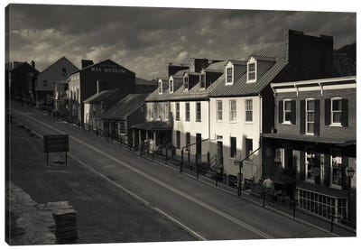 Buildings along a street, High street, Harpers Ferry National Historic Park, Harpers Ferry, West Virginia, USA Canvas Art Print