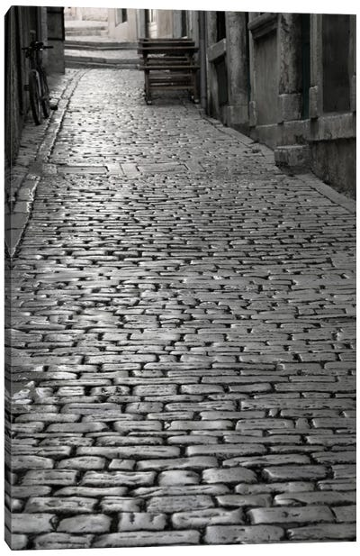 Cobbles street, Rovinj, Istria, Croatia Canvas Print #PIM11463