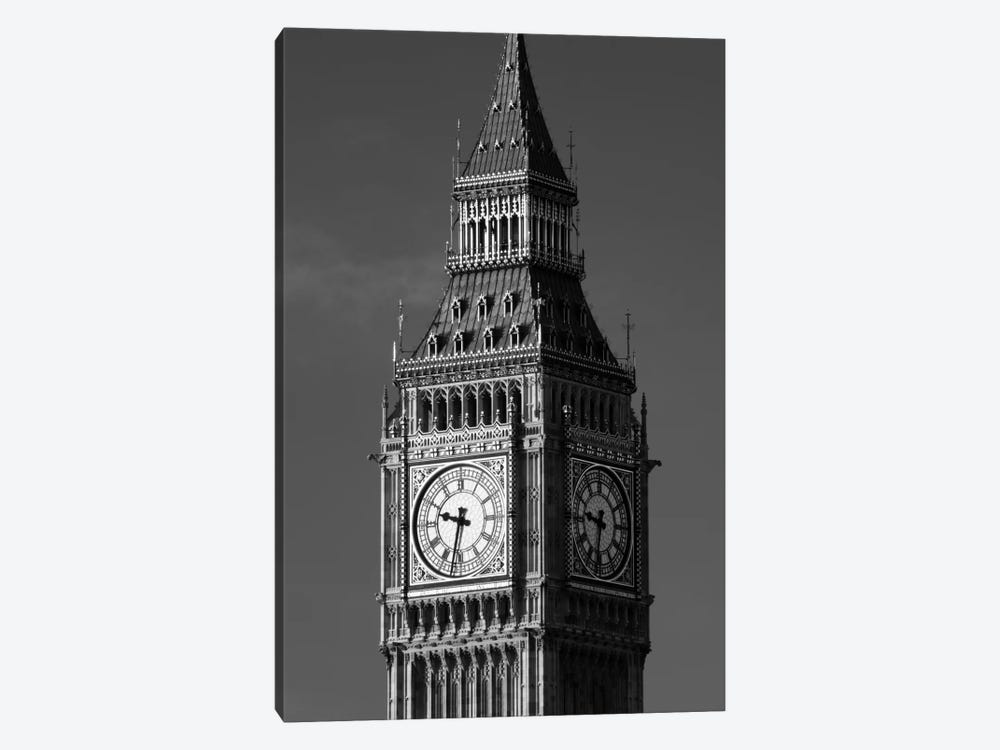 Low angle view of a clock tower, Big Ben, Houses Of Parliament, City Of Westminster, London, England by Panoramic Images 1-piece Canvas Print
