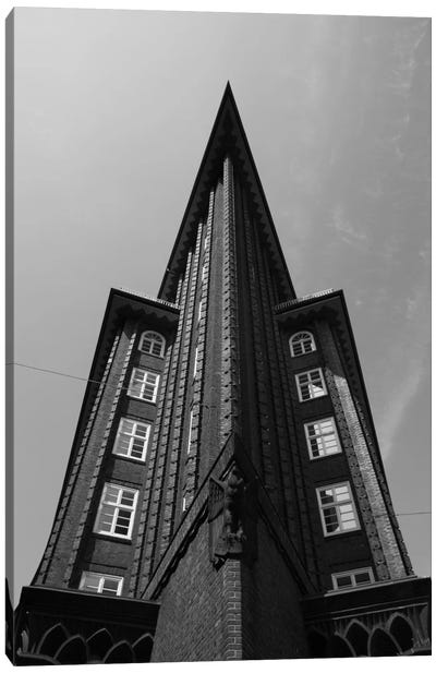 Low angle view of an office building, Chilehaus, Hamburg, Germany Canvas Art Print