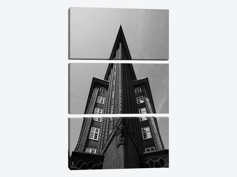 Low angle view of an office building, Chilehaus, Hamburg, Germany by Panoramic Images 3-piece Canvas Art