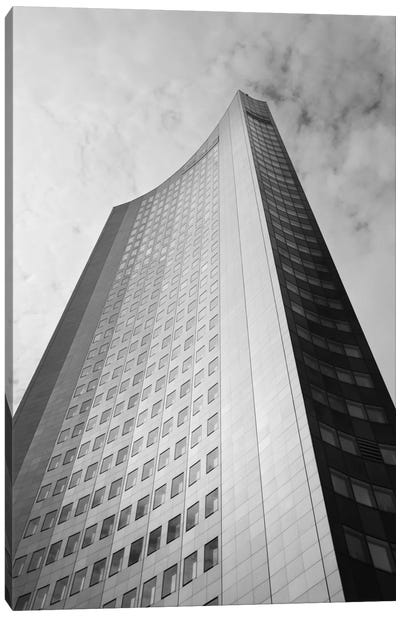 Low angle view of a building, City-Hochhaus, Leipzig, Saxony, Germany Canvas Print #PIM11489