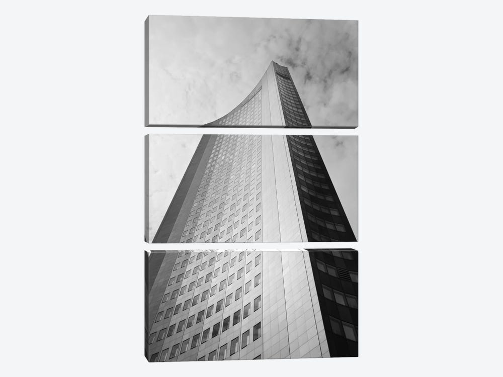 Low angle view of a building, City-Hochhaus, Leipzig, Saxony, Germany by Panoramic Images 3-piece Canvas Artwork