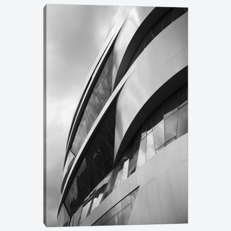 Low angle view of an automotive museum, Mercedes-Benz Museum, Stuttgart, Baden-Wurttemberg, Germany Canvas Print #PIM11493} by Panoramic Images Canvas Artwork