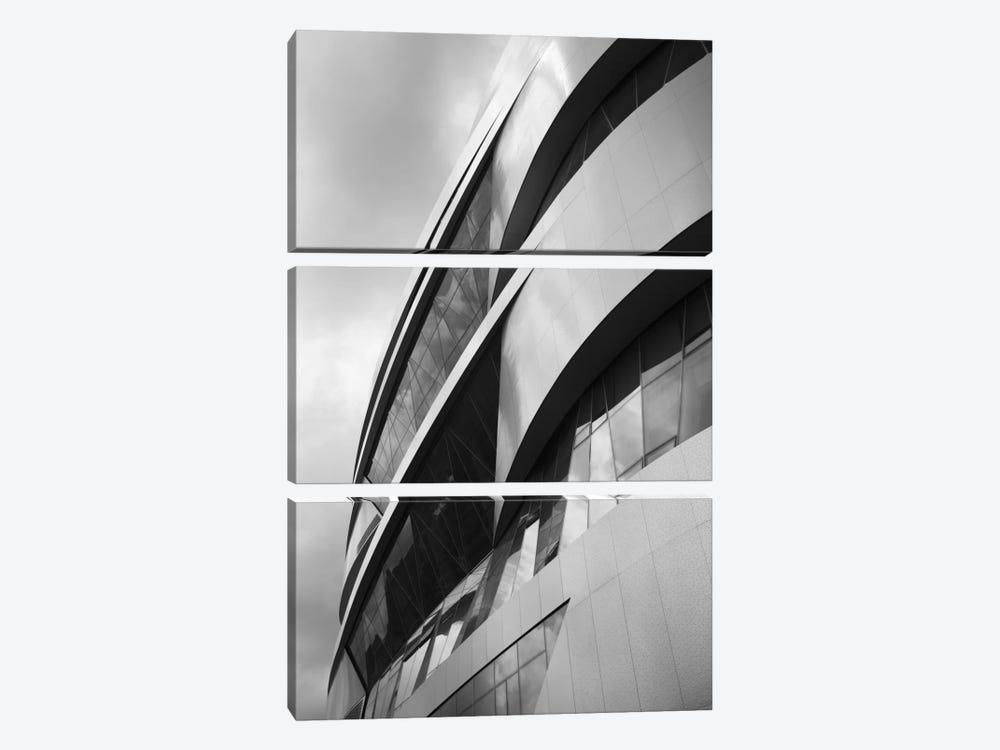 Low angle view of an automotive museum, Mercedes-Benz Museum, Stuttgart, Baden-Wurttemberg, Germany by Panoramic Images 3-piece Canvas Art Print