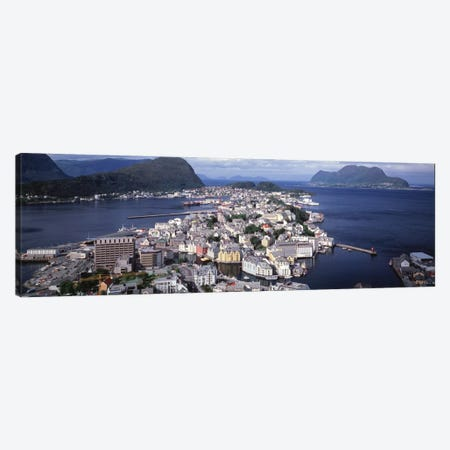Cityscape Alesund Norway Canvas Print #PIM1149} by Panoramic Images Canvas Wall Art