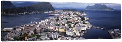 Cityscape Alesund Norway Canvas Print #PIM1149
