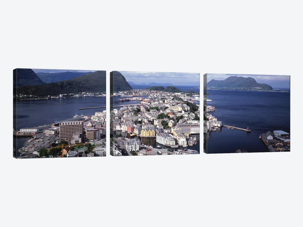 Cityscape Alesund Norway by Panoramic Images 3-piece Canvas Artwork