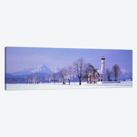 Winter St Coloman Church Schwangau Germany Canvas Print #PIM1150} by Panoramic Images Canvas Art Print