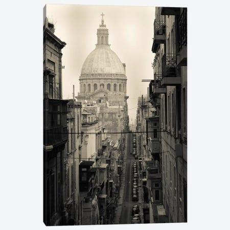 Buildings along a street 2, Triq Iz-Zekka, Valletta, Malta Canvas Print #PIM11539} by Panoramic Images Canvas Art Print