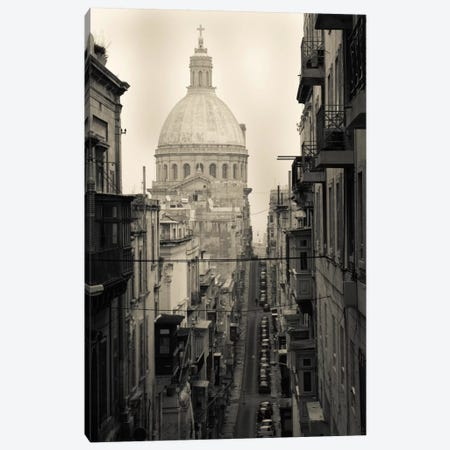 Buildings along a street 2, Triq Iz-Zekka, Valletta, Malta Canvas Print #PIM11539} by Panoramic Images Canvas Art Print