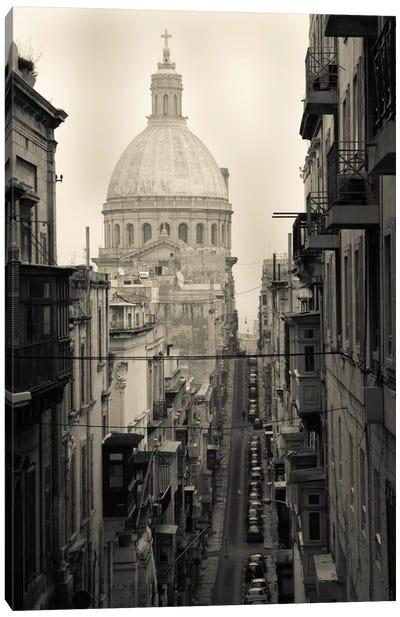Buildings along a street 2, Triq Iz-Zekka, Valletta, Malta Canvas Print #PIM11539