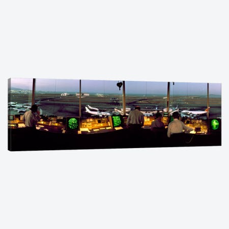San Francisco Intl Airport Control Tower San Francisco CA Canvas Print #PIM1154} by Panoramic Images Canvas Artwork