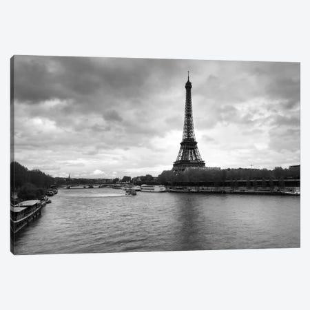 Eiffel Tower from Pont De Bir-Hakeim, Paris, Ile-De-France, France Canvas Print #PIM11550} by Panoramic Images Canvas Art Print