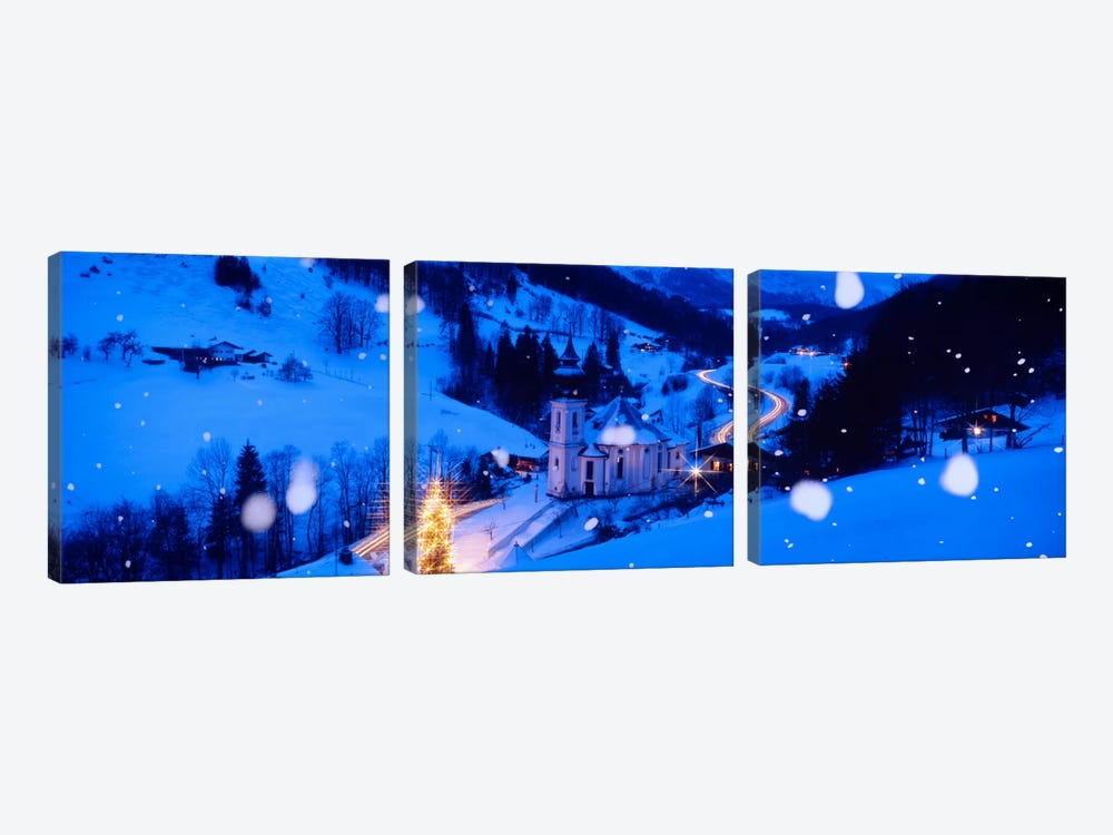 Maria Gern Church Berchtesgaden Bavaria Germany by Panoramic Images 3-piece Canvas Artwork