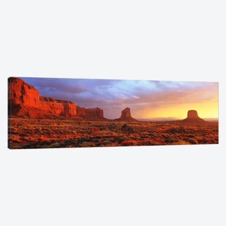 Monument Valley Sunrise, Navajo Nation, Arizona, USA Canvas Print #PIM1161} by Panoramic Images Canvas Artwork
