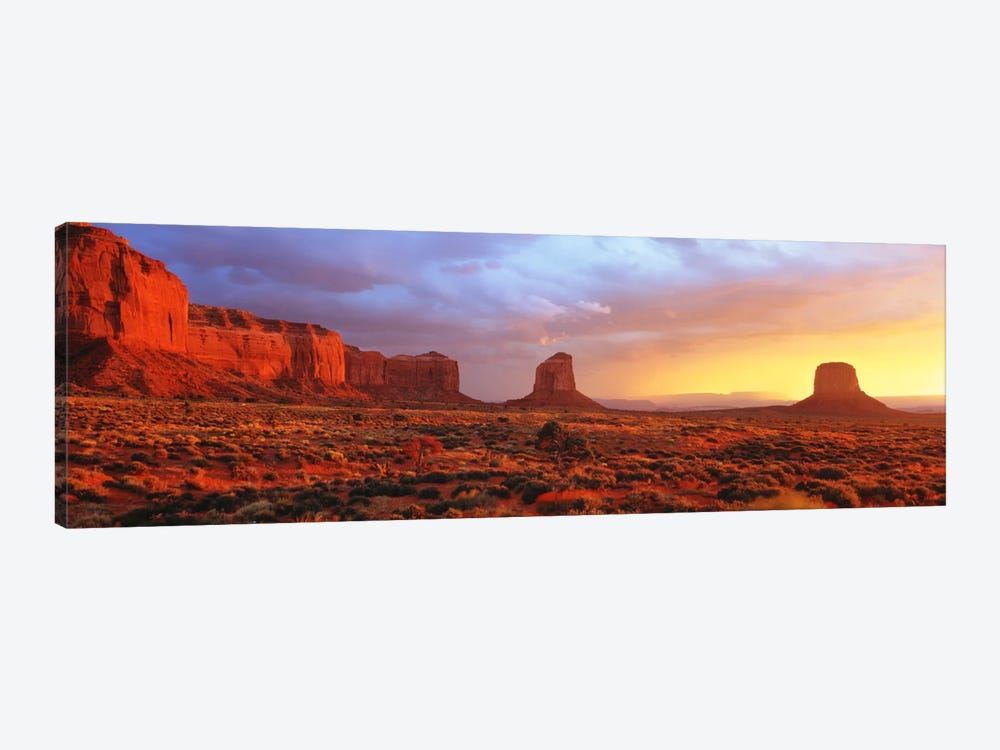 Monument Valley Sunrise, Navajo Nation, Arizona, USA by Panoramic Images 1-piece Canvas Wall Art