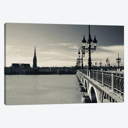 Pont de Pierre bridge across Garonne River, Bordeaux, Gironde, Aquitaine, France 3-Piece Canvas #PIM11624} by Panoramic Images Canvas Artwork