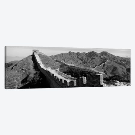 Great Wall of China (black & white) Canvas Print #PIM1164bw} by Panoramic Images Canvas Print