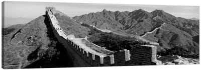 Great Wall of China (black & white) Canvas Print #PIM1164bw
