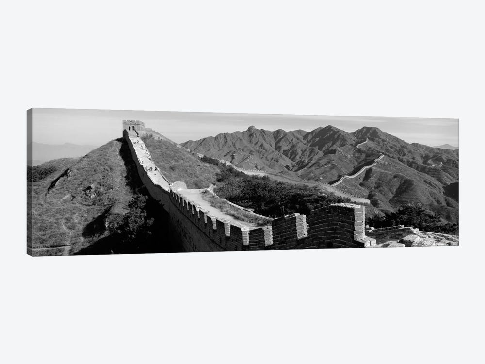 Great Wall of China (black & white) by Panoramic Images 1-piece Canvas Art
