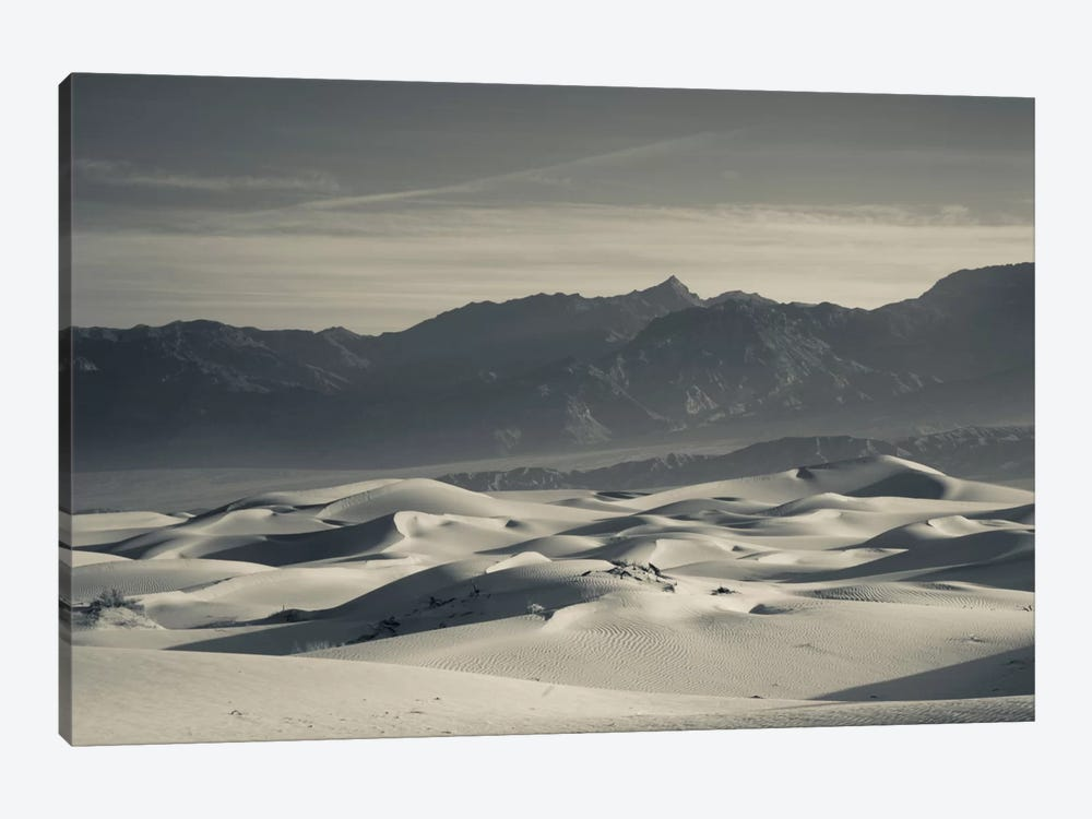 Sand dunes in a desert and Mountain Range 2, Mesquite Flat Sand Dunes, Death Valley National Park, Inyo County, California, USA by Panoramic Images 1-piece Canvas Print