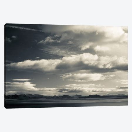 Clouds over a lake, Mono Lake, Lee Vining, Mono County, California, USA 3-Piece Canvas #PIM11687} by Panoramic Images Canvas Art