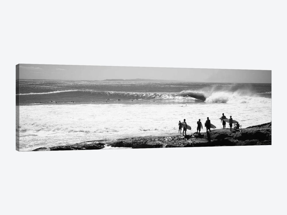 Silhouette of surfers standing on the beach, Australia by Panoramic Images 1-piece Canvas Artwork