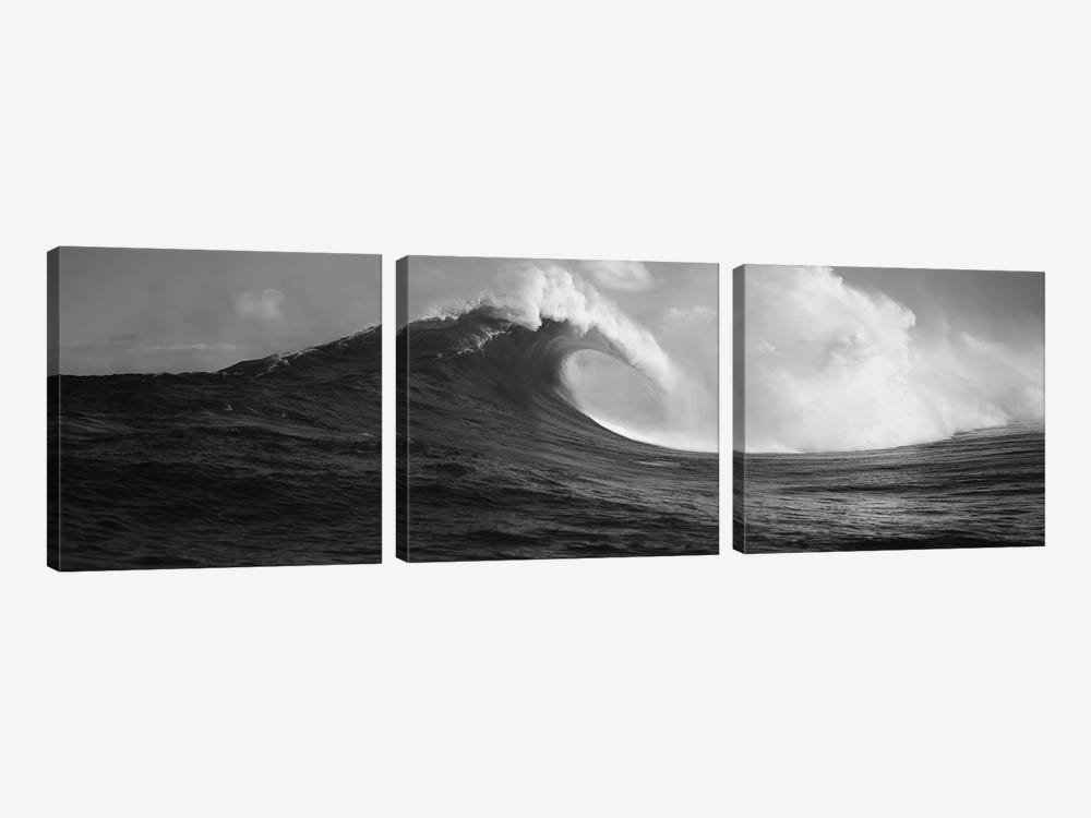 Waves in the sea, Maui, Hawaii, USA by Panoramic Images 3-piece Canvas Print