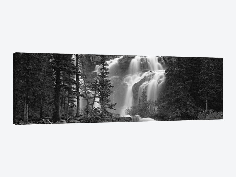 Waterfall in a forest, Banff, Alberta, Canada by Panoramic Images 1-piece Canvas Art Print