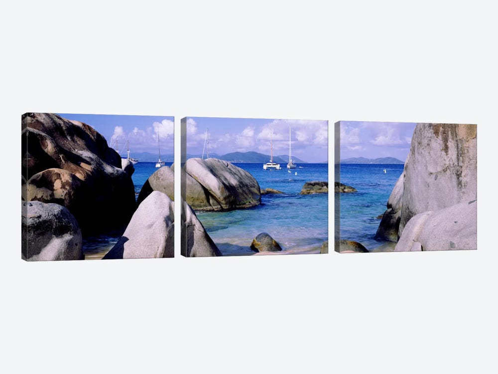 The Baths, Virgin Gorda, British Virgin Islands by Panoramic Images 3-piece Art Print