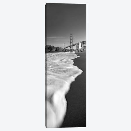 Suspension bridge across a bay, Golden Gate Bridge, San Francisco Bay, San Francisco, California, USA 3-Piece Canvas #PIM11720} by Panoramic Images Canvas Artwork