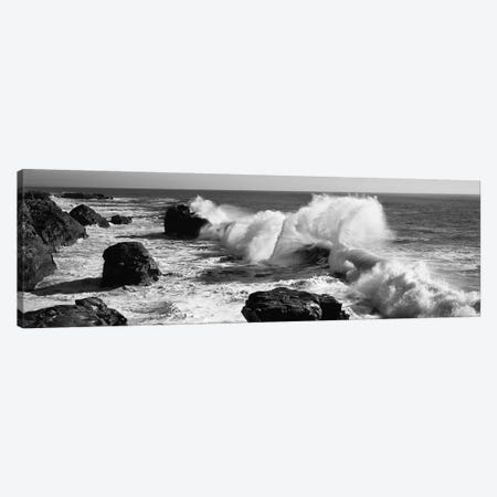 Waves breaking on the coast, Santa Cruz, Santa Cruz County, California, USA Canvas Print #PIM11724} by Panoramic Images Canvas Art Print
