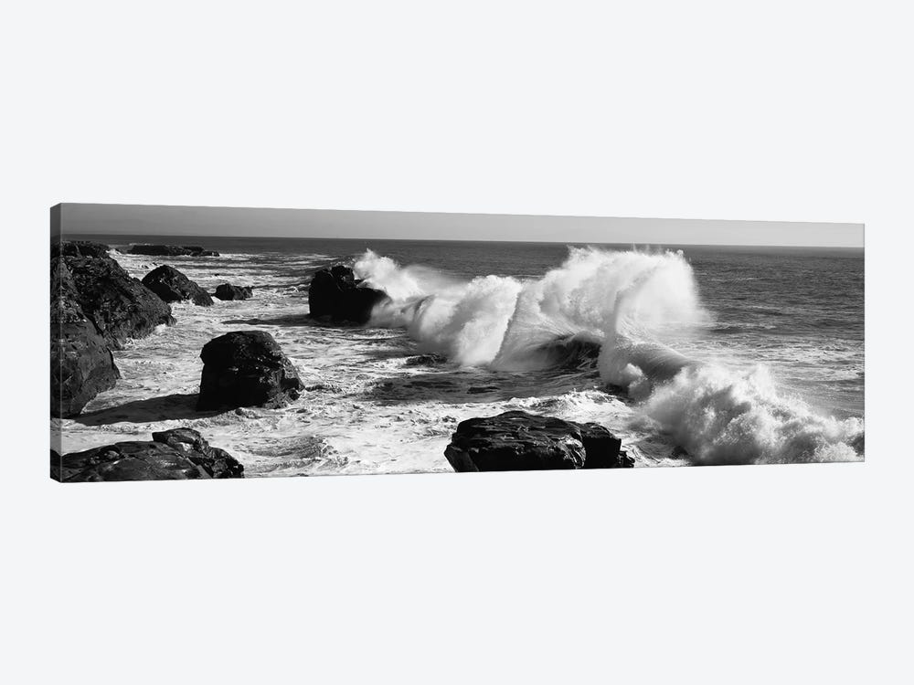 Waves breaking on the coast, Santa Cruz, Santa Cruz County, California, USA by Panoramic Images 1-piece Art Print